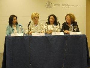 De izquierda a derecha: Lucila Finkel, María Jesús  Delgado, Mercedes Jaraba y Montserrat Tarrés